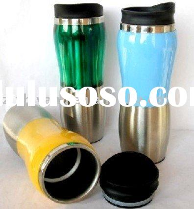 Plastic out and stainless steel inner travel mug