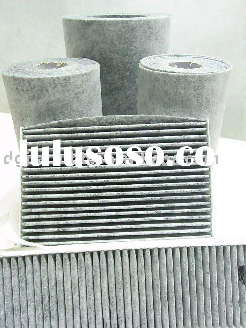 Polyester activated carbon air filter material