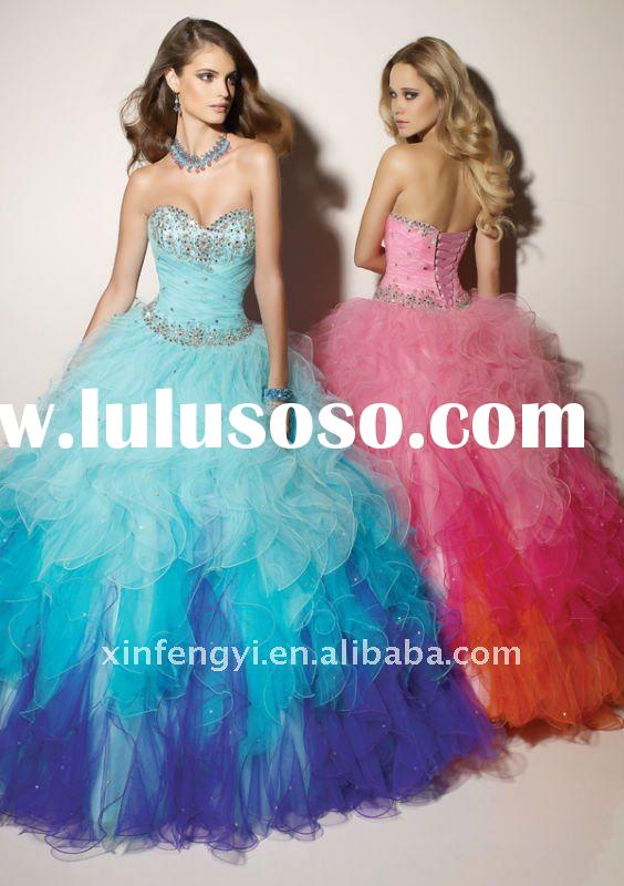 Princess ball gown tulle quinceanera dresses