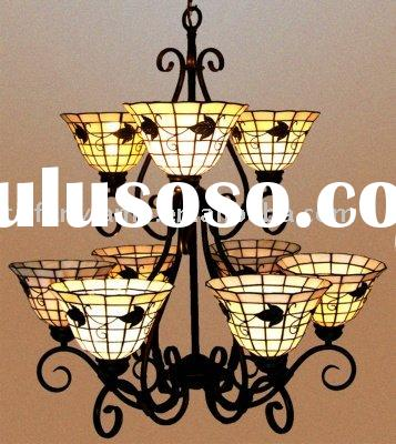 QX tiffany chandeliers,ceiling lamp,hanging light, stained glass lamp