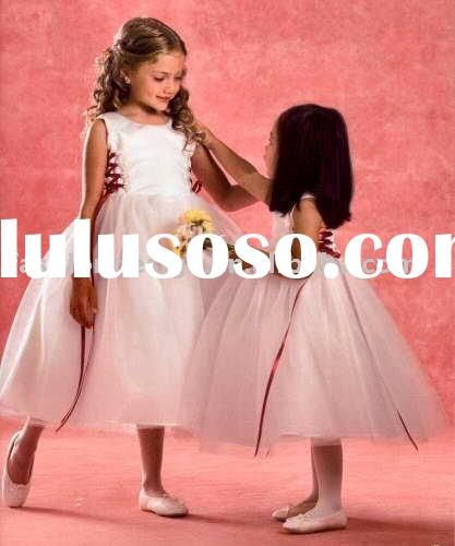RG037 Fashion little children wedding dress Flower girl dresses
