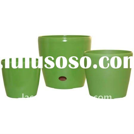 Self-watering painting flower pot with drainhole