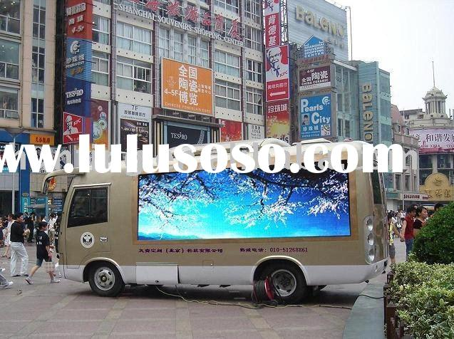 Superb high definition Bus LED display screen Mobile outdoor full color HX-P12 LED display Truck LED