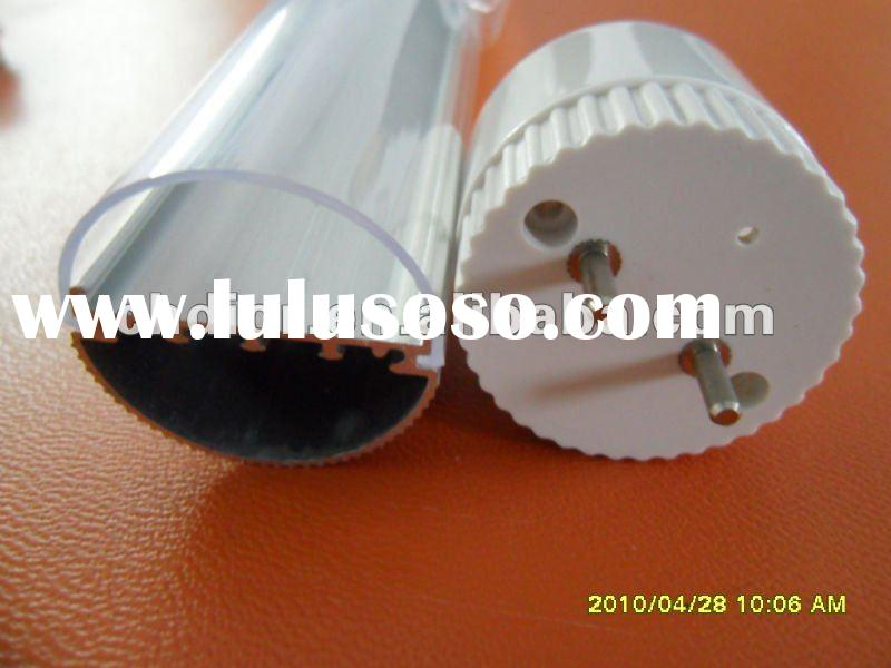 T10 led tube fittings,with good heat sink aluminum extrusion