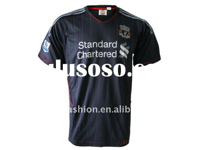 Top Quality 11/12 Season Liverpool away football jersey,embroidery logo accept paypal