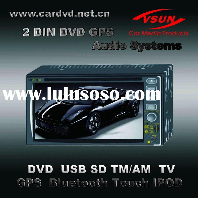 VS-6208 WITH DVD AV TV USB SD MP4 RADIO TOUCH BLUETOOTH IPOD GPS CAR CD PLAYER