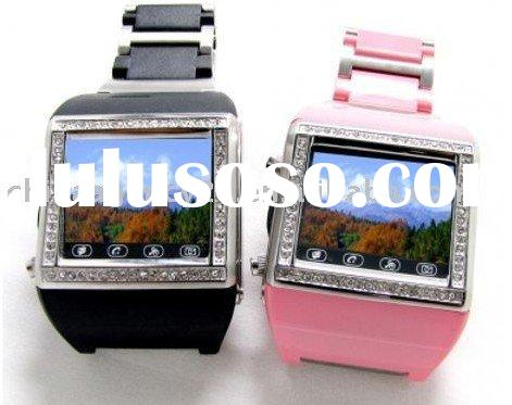 Watch Phone Quad Band Touch Screen Diamond Inlay Unlocked phone