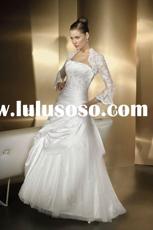 Wholesale Price Wedding Dress Long Sleeve with Lace