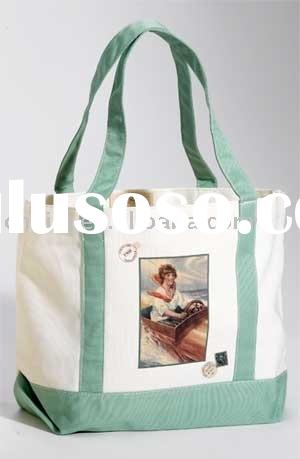 Women canvas handbag, ladies tote bag, shopping bag(LJ-2056)