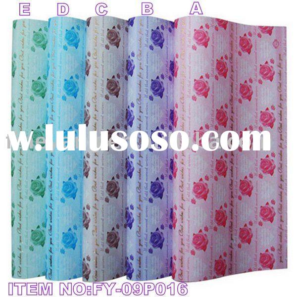 Wrapping paper,flower wrapping,gift packing paper-2009new style