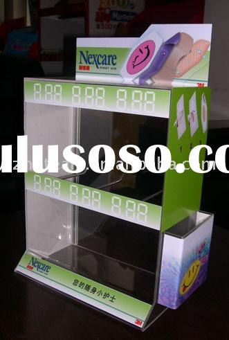 acrylic product counter,mall display,pamphlet counter,battery display