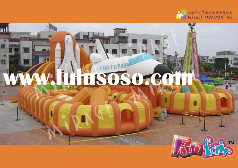 amusement park and inflatable bouncer--Space Camp