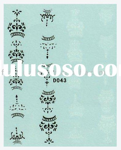 crown nail art sticker,nail accessory,custom nail art sticker(D043)