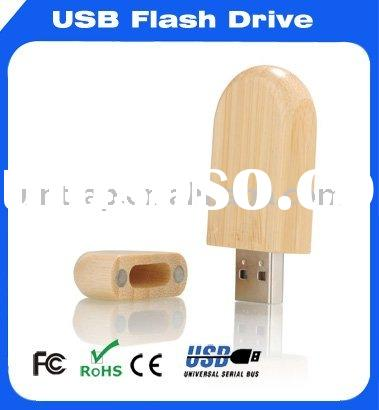 custom design logo wooden usb flash drive