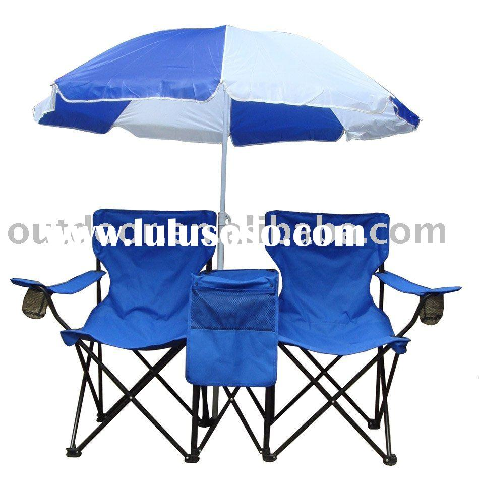 folding double seat chair with umbrella cooler box for sale Price China Man