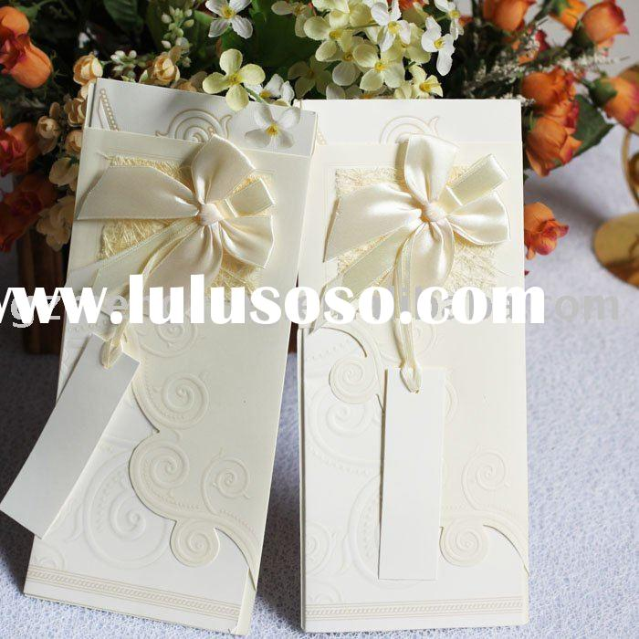 How To Decorate A Wedding Card