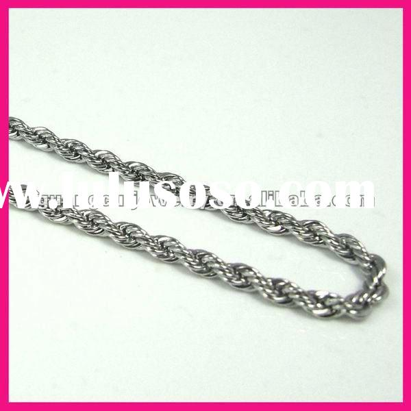 fashion mens stainless steel neck curb chains necklace jewelry