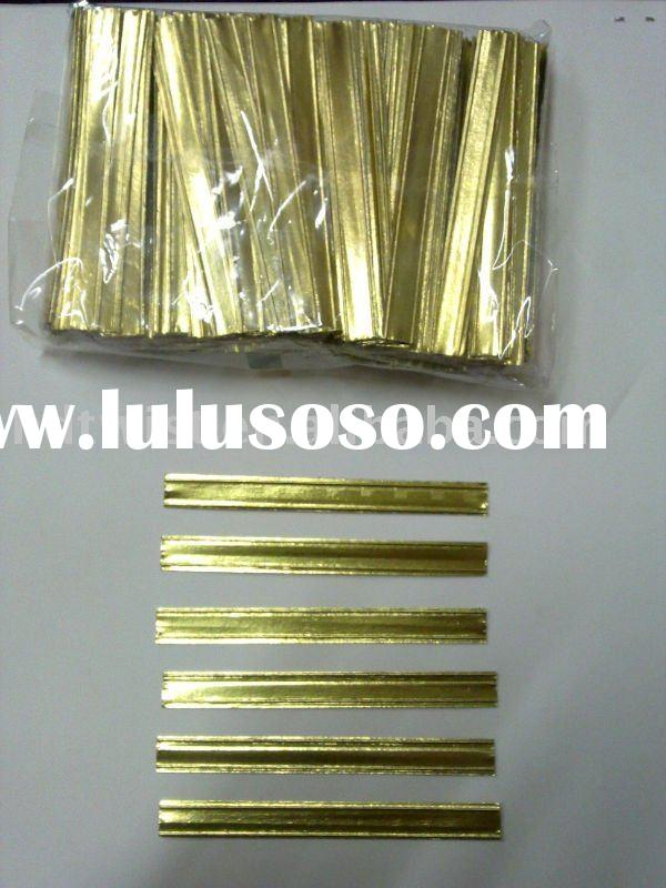 foil paper double wire twist ties /clip band/ bag closures