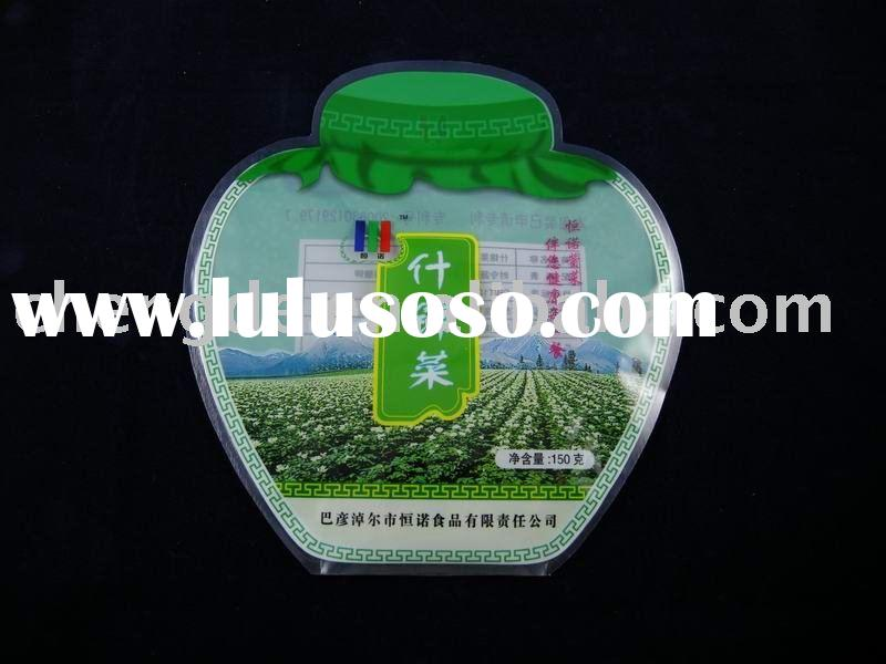 food packaging,shaped bag, plastic vegetable packaging pouch,