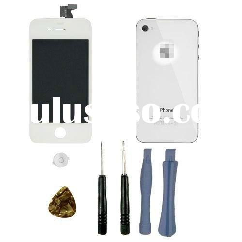 for iPhone 4 colorful Conversion Kits(LCD + Digitizer with Touch Screen + Back cover + Home Button)