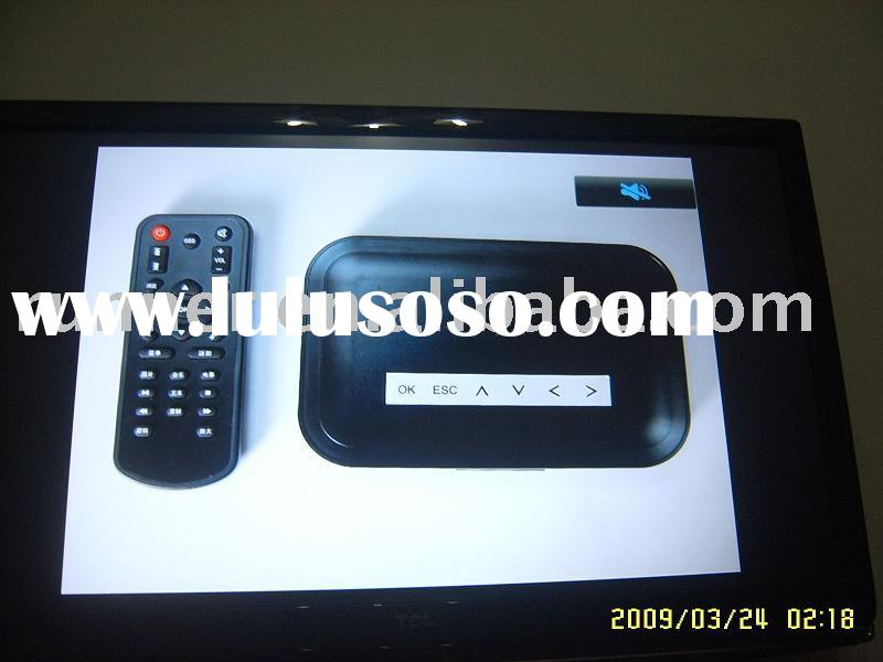 mini HD media player rmvb reader working with USB and SD, connected to TV supporting internet format