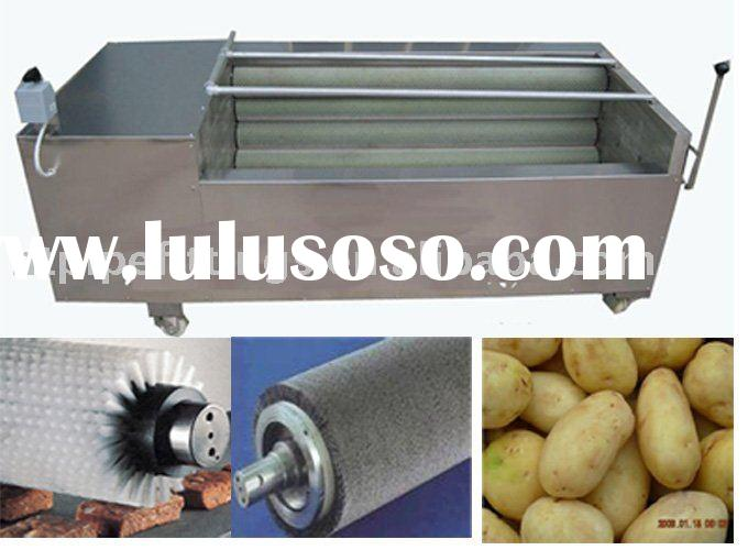 multifunction Vegetable/fruit brush washing and peeling machine