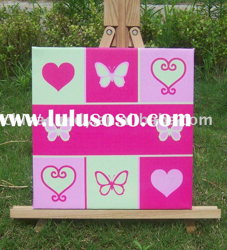 painting/printing color stretched canvas for kids/children room