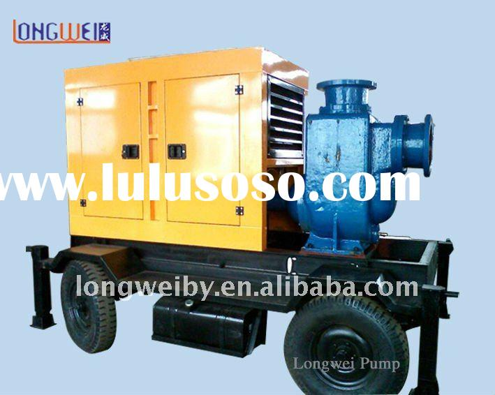 self priming sewage pump with diesel(manufacture)