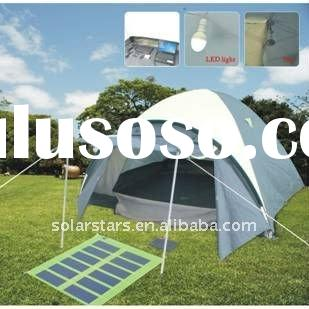 solar outdoor family camping tent