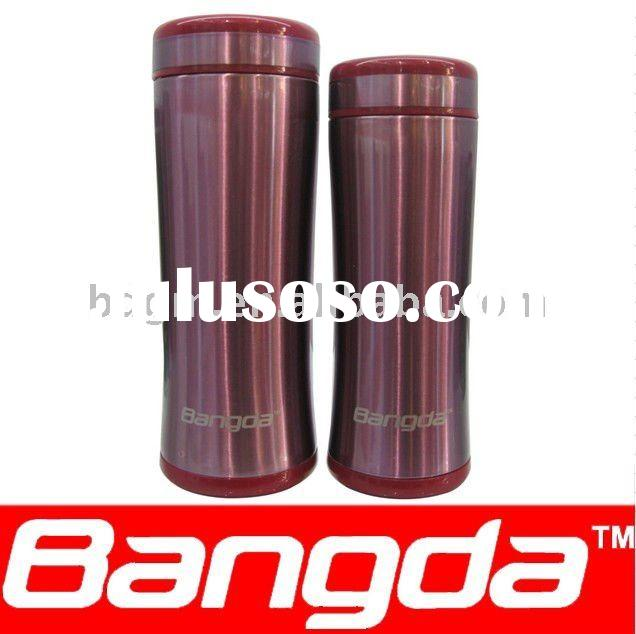 stainless steel vacuum thermo mug, coffee cup.