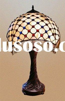 tiffany stained glass bead table lamp