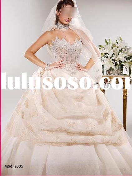 transparent corset crystals top wedding gowns ball gowns SHS121