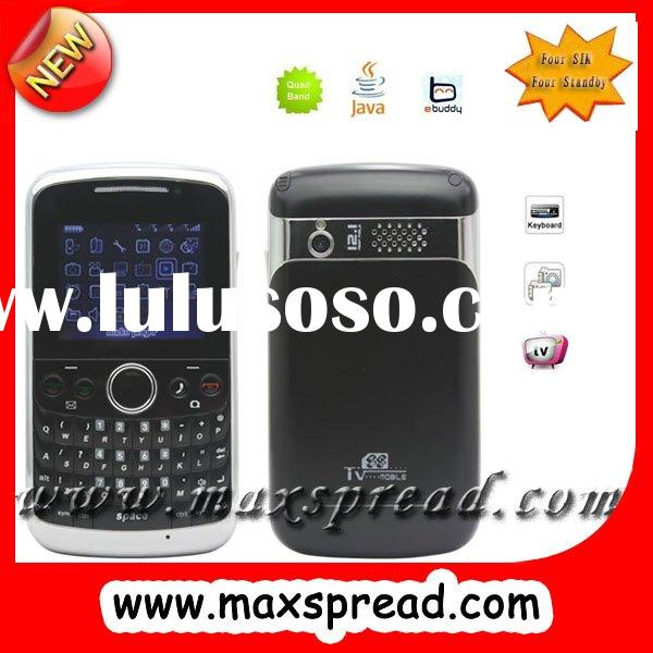 tv gsm cell phone,4 sim cellphone with qwerty keyboard