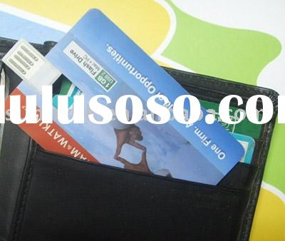 wafer bank card USB flash drive with true color printing, WALLET CARD