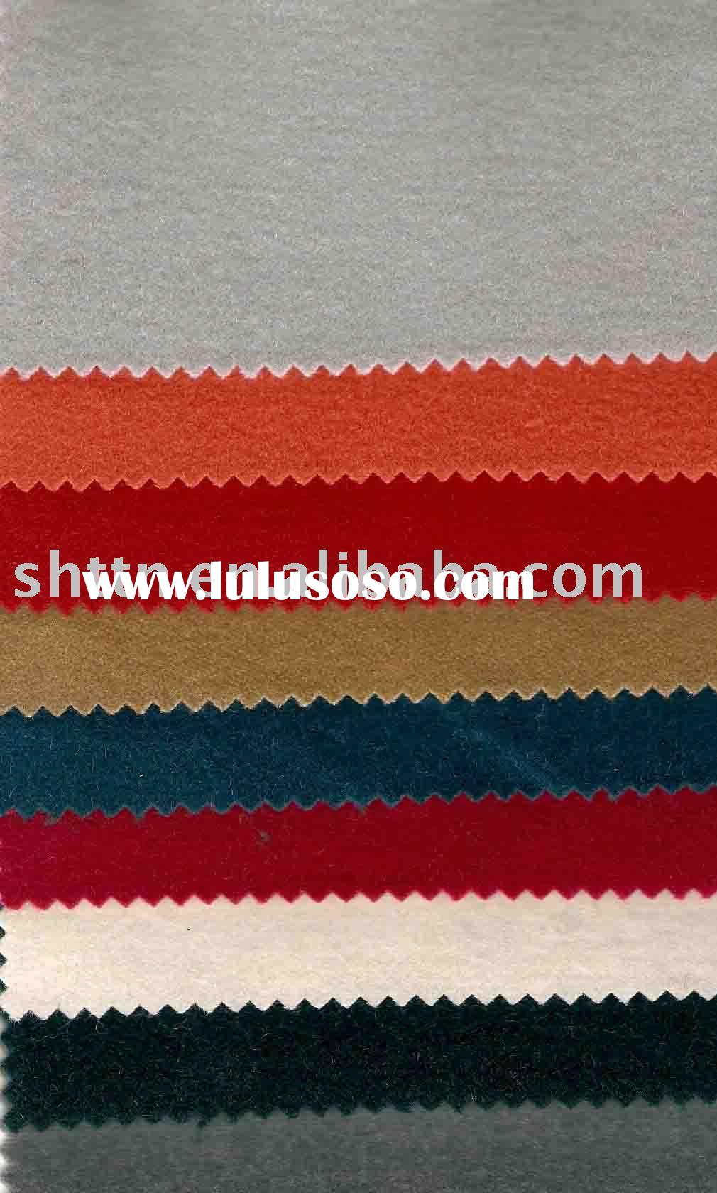 wool fabric/woven/solid color/for fall and winter coat