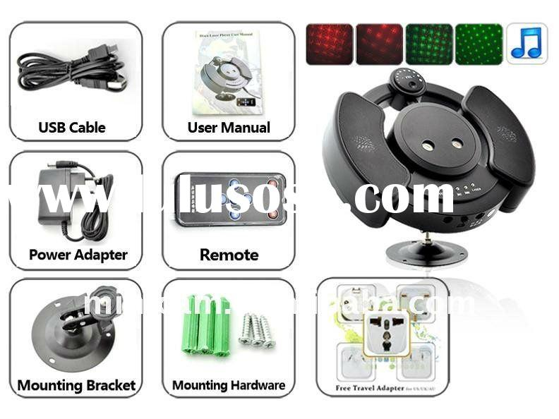 150mW DJ Laser Party Light PROJECTOR + MP3 Player & Speakers