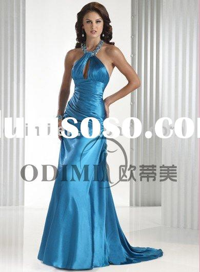 2010 new fashion blue evening gown
