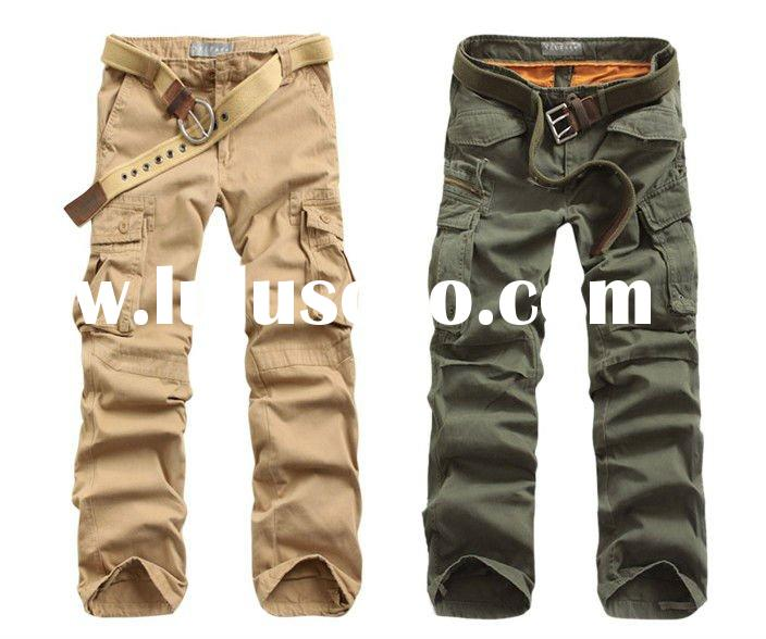 2011New style mens washed casual denim pants cargo shorts cargo pants