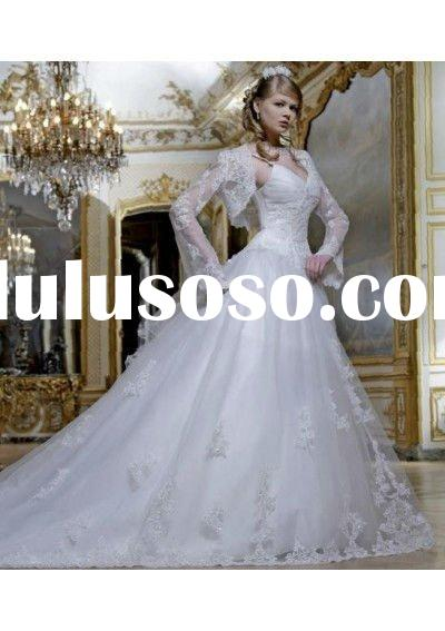 2011 Hot Sell V-Neck with Spaghetti Straps Wedding Dress Skirt Organza Ball Gown,Designer wedding dr
