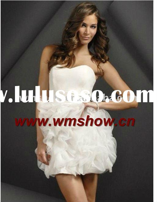 2011 Latest Modern Off-shoulder White Young Girls Party Dresses