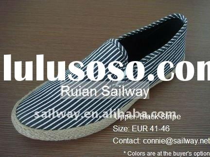 2011 Men's Casual Shoe All Sizes All Colors Slip-on Strip Espadrille with Jute Foxing