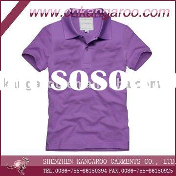 2011 Mens 100%cotton solid color fashion polo shirt