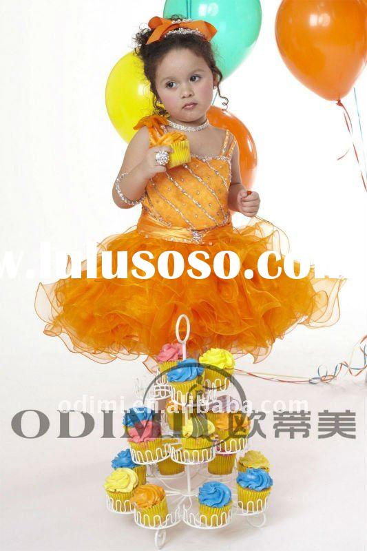 2011 New Arrival Beaded Short Girls Pageant Dress