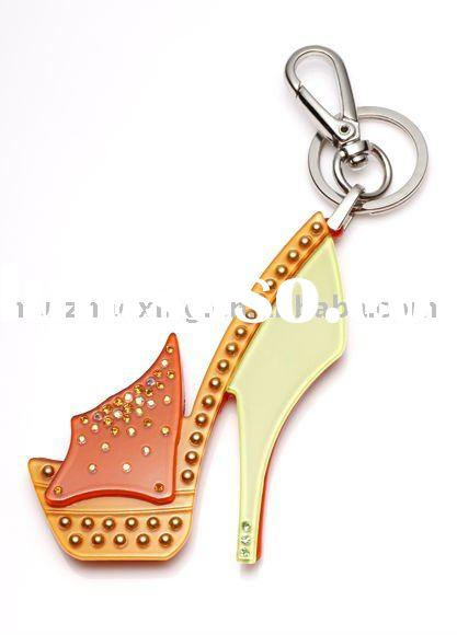 2011 New Arrival-Fashion High Heel Shoe Acrylic Keychain
