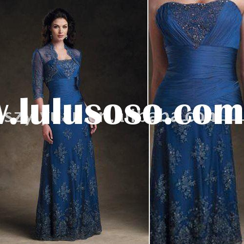 2011 New style embroidery&beading A-line Free Lace jacket Elegant Formal Mother of the bride Dre