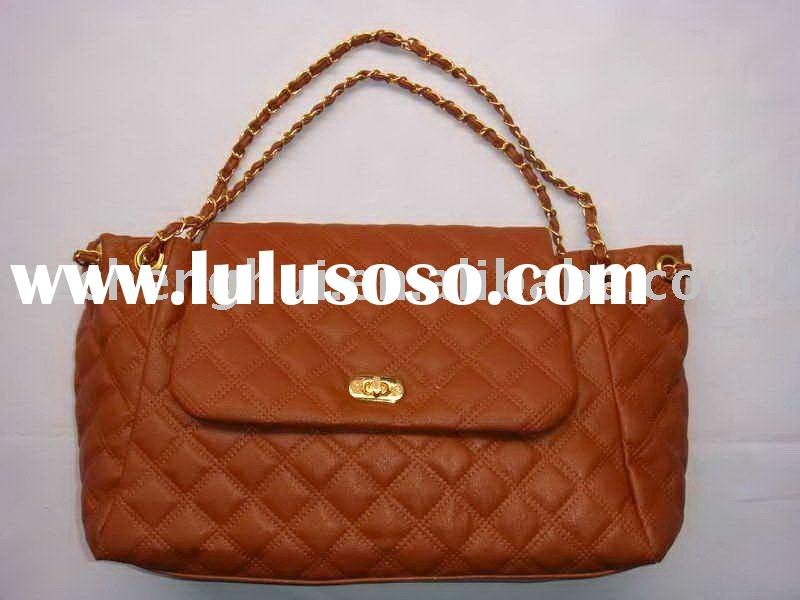2011 PU lady fashion handbag-Generous girl