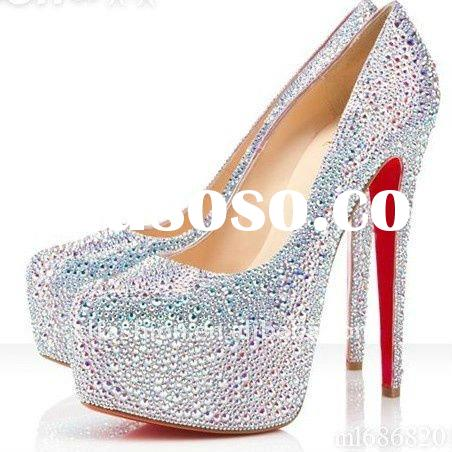 2011 branded crystal women shoes,red sole new arrival!!!