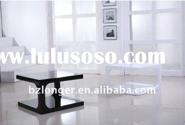 2011 hot sell high gloss black and white coffee table
