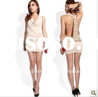 2011 new fashion beaded party short evening dresses
