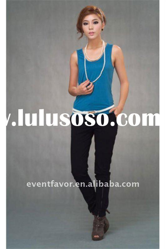 2011 newest design sleeveless name t-shirts clothes women